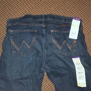 A-baby wrangler jeans